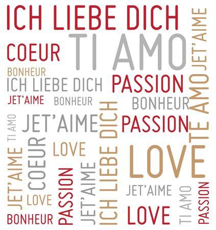 love words vector background