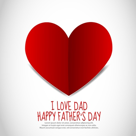 Father s Day Paper Heart