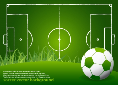 Soccer Strategy Background with Ball