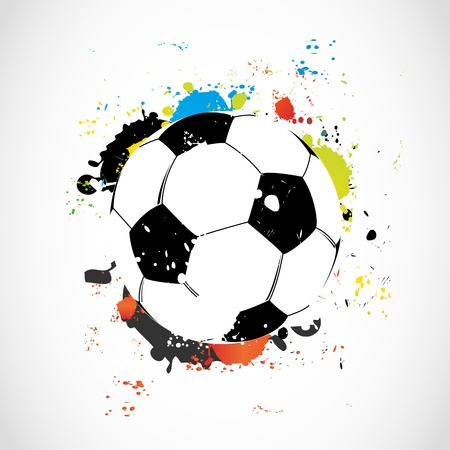 Abstract colorful grunge soccer ball