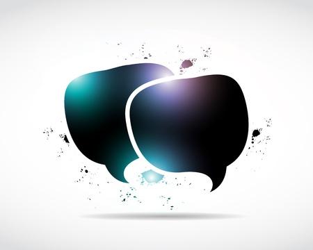 abstract shiny speech bubbles