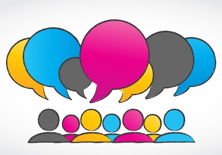 group discussions speech bubbles