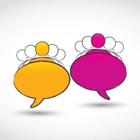 Illustration pour social conversations groups - image libre de droit