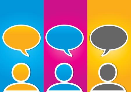 colorful social media communication concept
