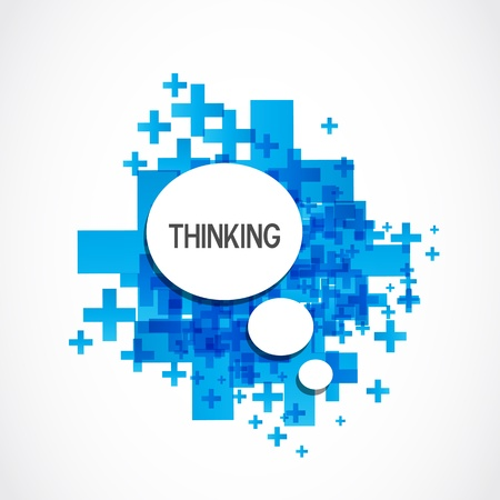 Illustration pour Positive thinking cloud - image libre de droit