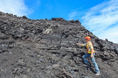 coal geologist at lignite mine North of THAILAND