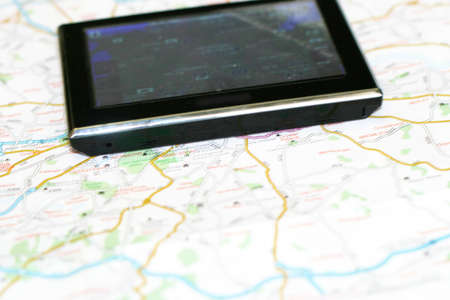 gps navigator on the map