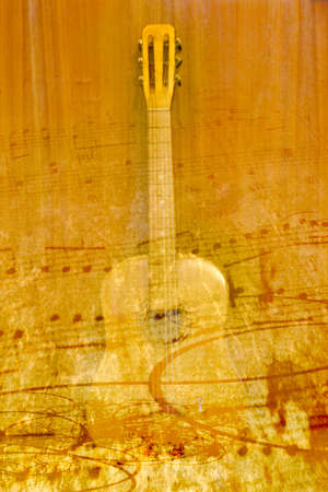 abstract scene acoustic guitar as music background