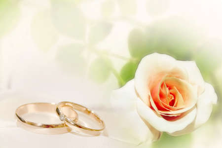 abstract scene with wedding rings as celebration background
