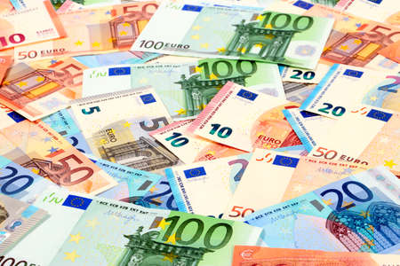 European paper euro bills as part of the world financial and trading system