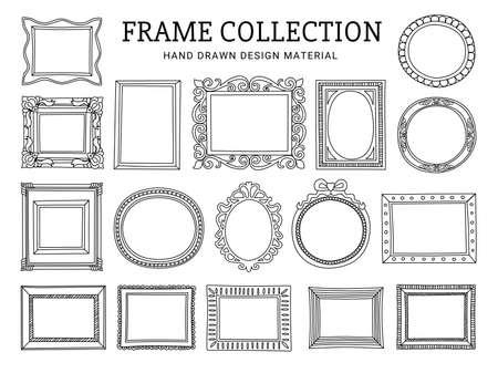 Illustration pour decoration line drawing frame collection - image libre de droit