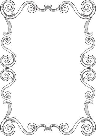 Engraving pattern of nice frame