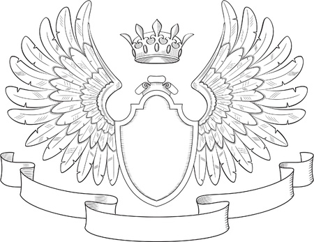 Engraved heraldry symbol for luxury design