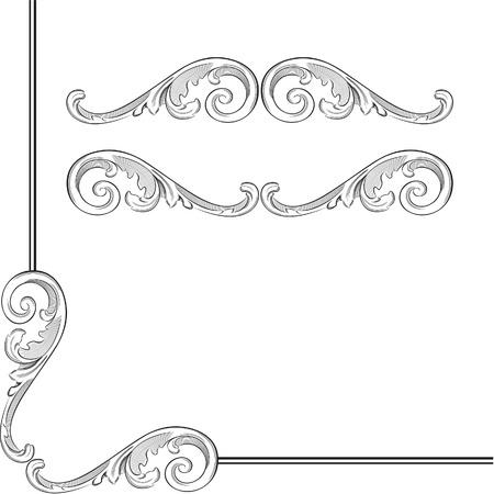 Elegance baroque elements for frame or ornament
