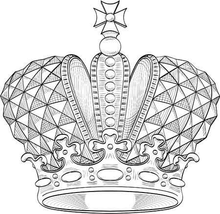 Great crown for heraldy design
