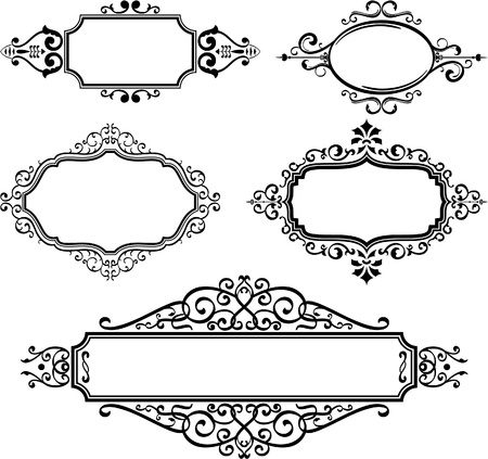 Ornate borders on white