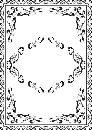 Ornate frame is on white
