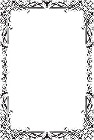 Baroque Greeting Luxury Frame on white