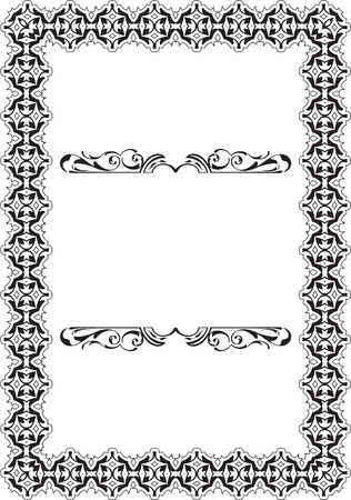Baroque Vintage Scroll Frame on white