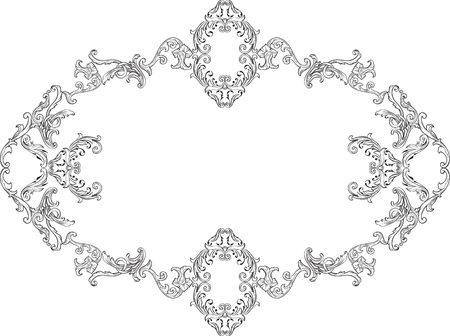 Ornate decor page isolated on white