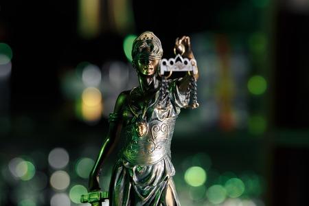 The Statue of Justice - lady justice or Iustitia Justitia
