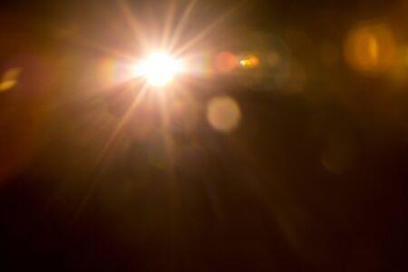 Foto de Lens Flare Orange Bright - Imagen libre de derechos