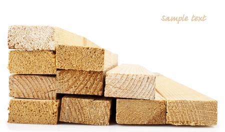 Photo pour Wood planks on a white background - image libre de droit