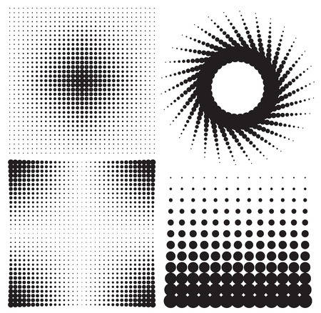 Illustration for set of halftones background. vector illustration - Royalty Free Image