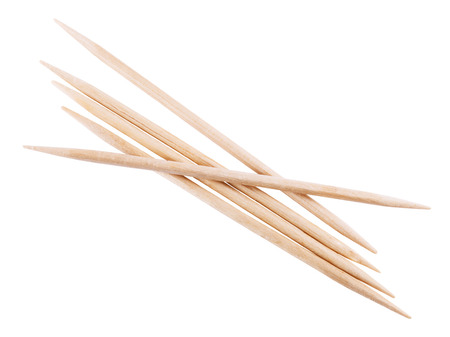 wooden toothpick isolated on white background.