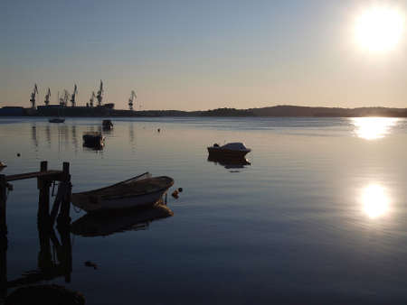 calm sea in late summer