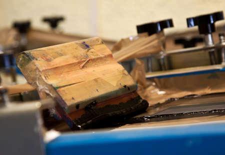 hand screenprinting machine with blade