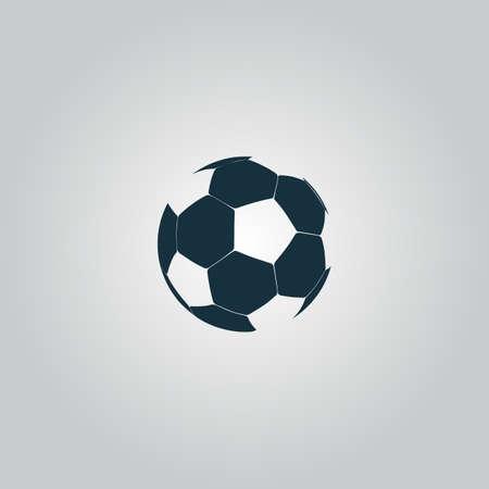 Ilustración de Football ball - soccer. Flat web icon, sign or button isolated on grey background. Collection modern trend concept design style vector illustration symbol - Imagen libre de derechos