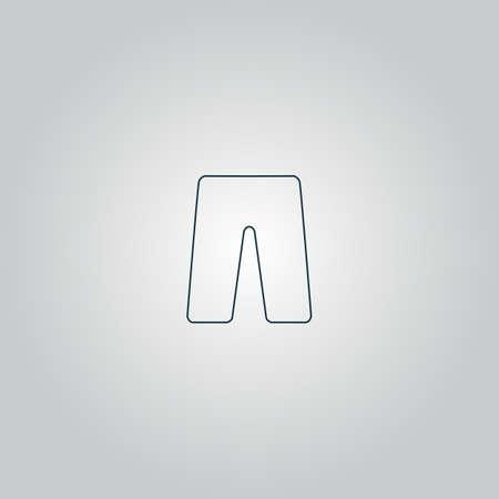 Capri. Flat web icon or sign isolated on grey background.