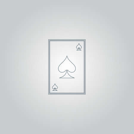 Spades card. Flat web icon or sign isolated on grey background. Collection modern trend concept design style vector illustration symbol