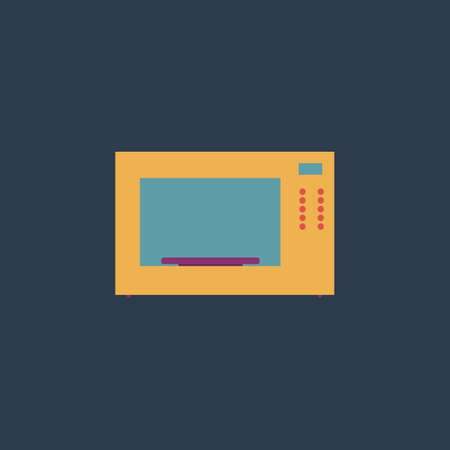 Microwave Oven Colorful Vector Icon