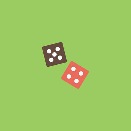 Dice. Colorful vector icon. Simple retro color modern illustration pictogram. Collection concept symbol for infographic project and logo
