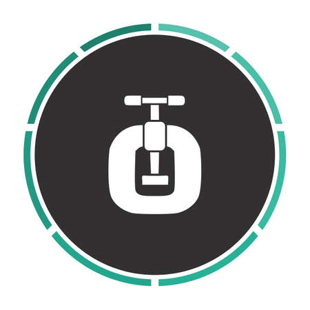Vice Simple flat white vector pictogram on black circle. Illustration icon