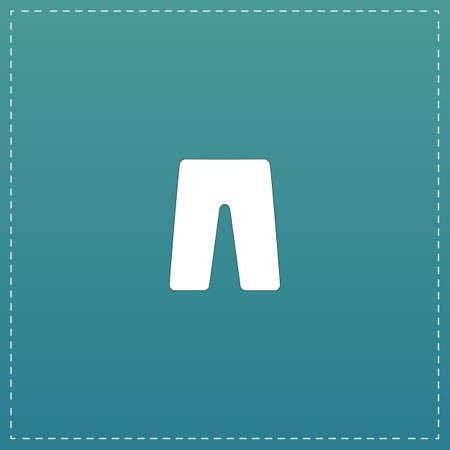 Capri. White flat icon with black stroke on blue background