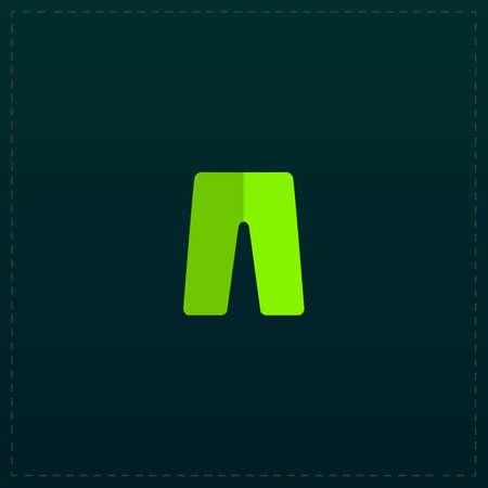 Capri. Color symbol icon on black background. Vector illustration