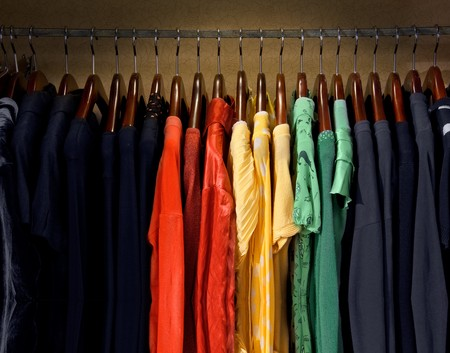 A picture of colorful dresses