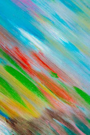 Foto de abstract creative background: light bright chaotic spots of oil paint on linen canvas before tone priming - Imagen libre de derechos