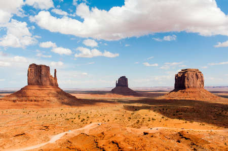 Monument Valley under the bl