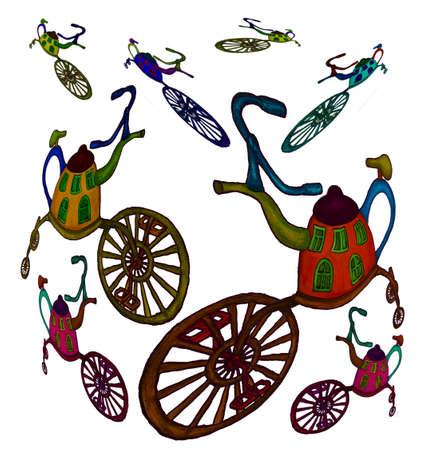 Illustration - Kettle on the wheel