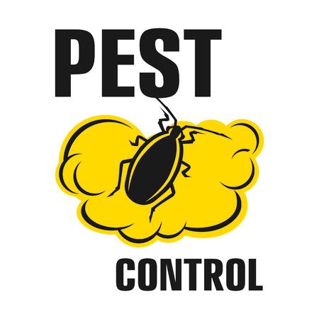 Illustration pour Vector logo for pest and insect control company - image libre de droit