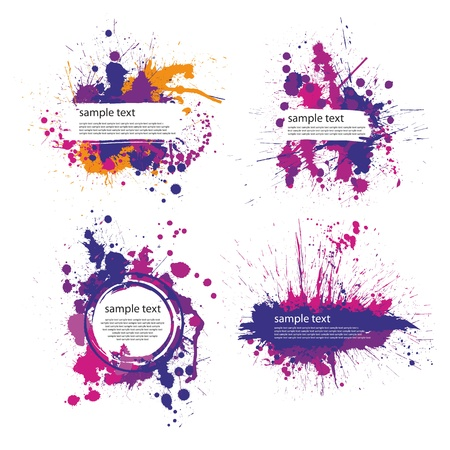 Illustration for color index blot - Royalty Free Image