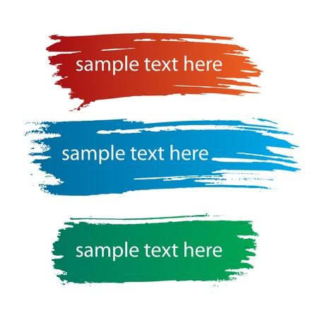 Illustration pour color ink streaks of paint stains - image libre de droit