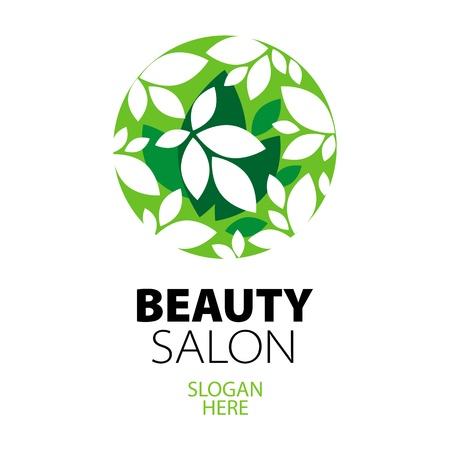 green ball of leaves logo for beauty salon