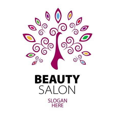 peacock logo for beauty salon