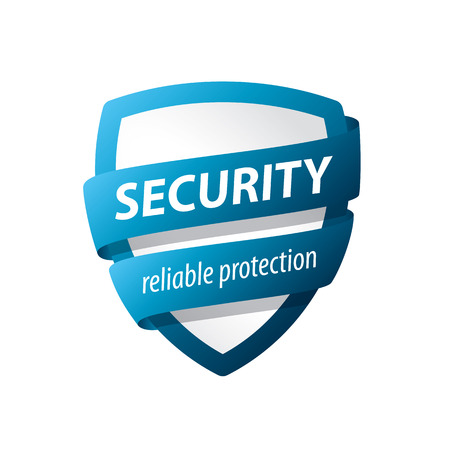 vector blue shield for protection