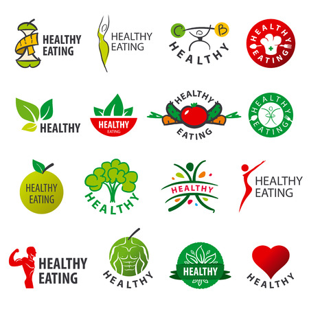biggest collection of vector  healthy eatingのイラスト素材